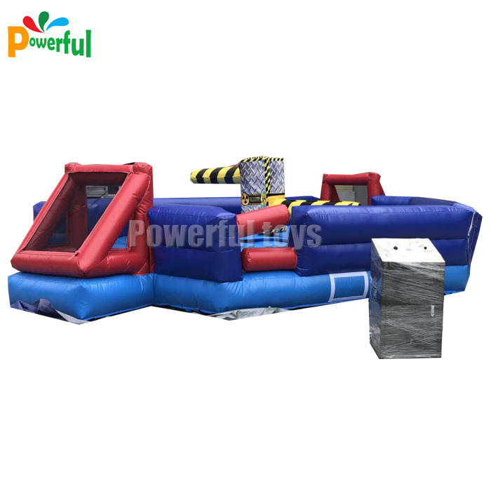 Inflatable sweeper wipeout, inflatable wipeout course for trampoline park