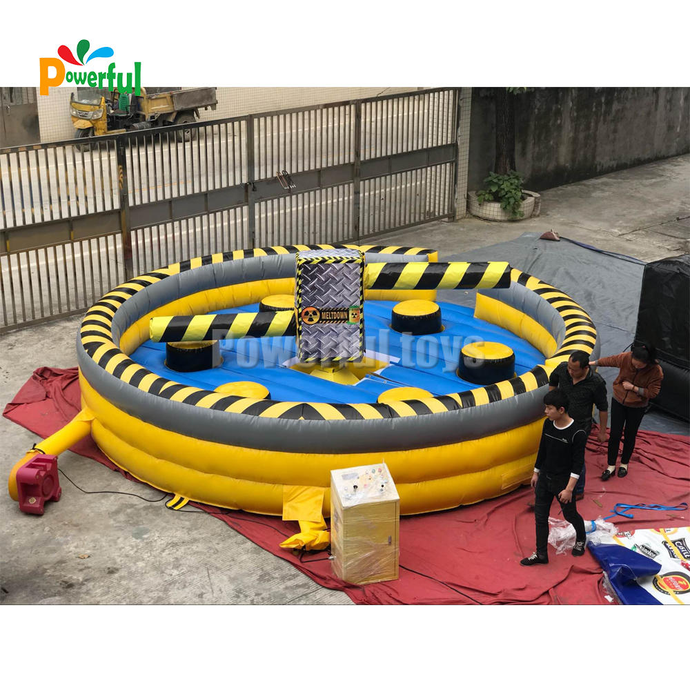 6m diameter carnival games inflatable wipeout challengeinflatable team building game for trampoline park