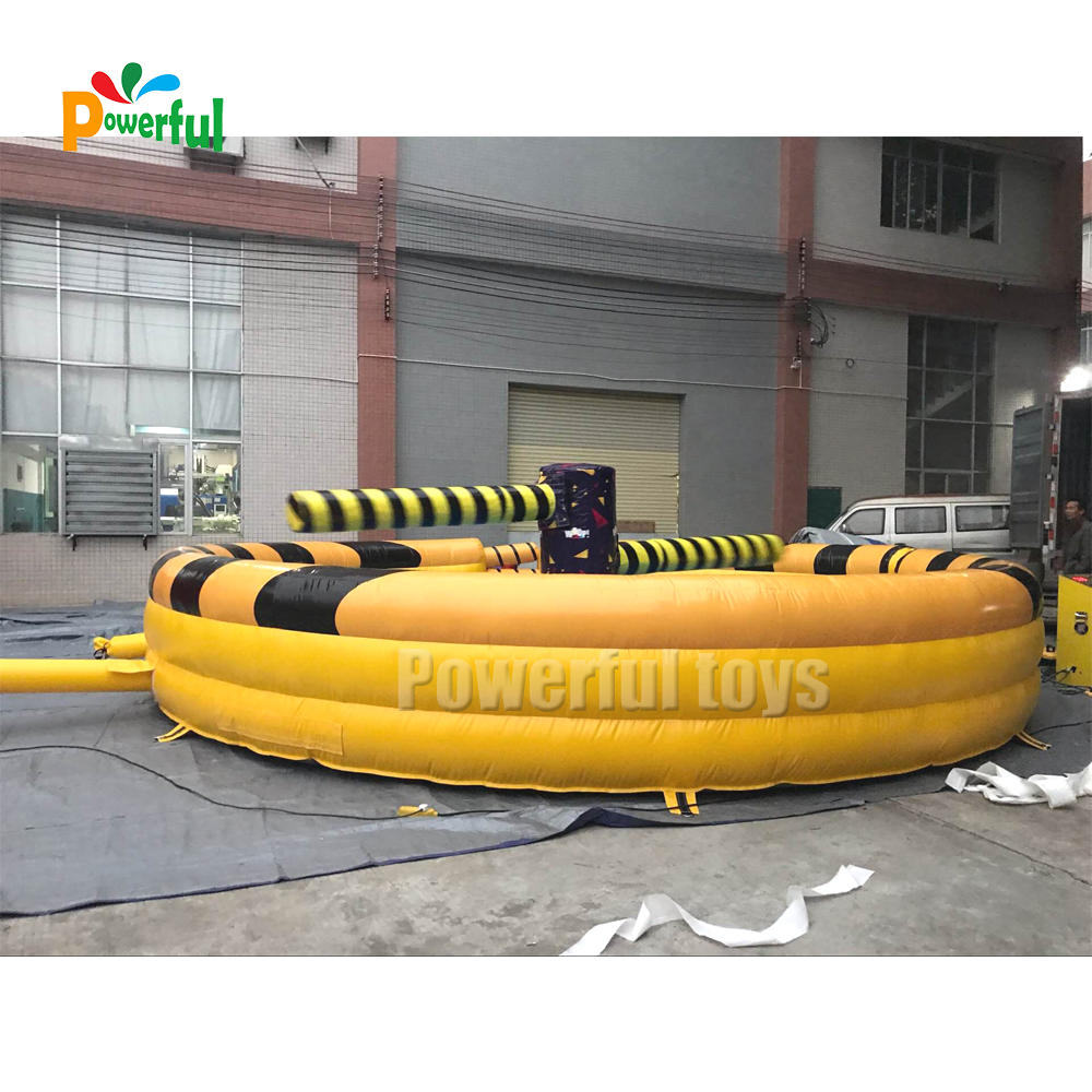 Inflatable Meltdown Challenge twister fighting game