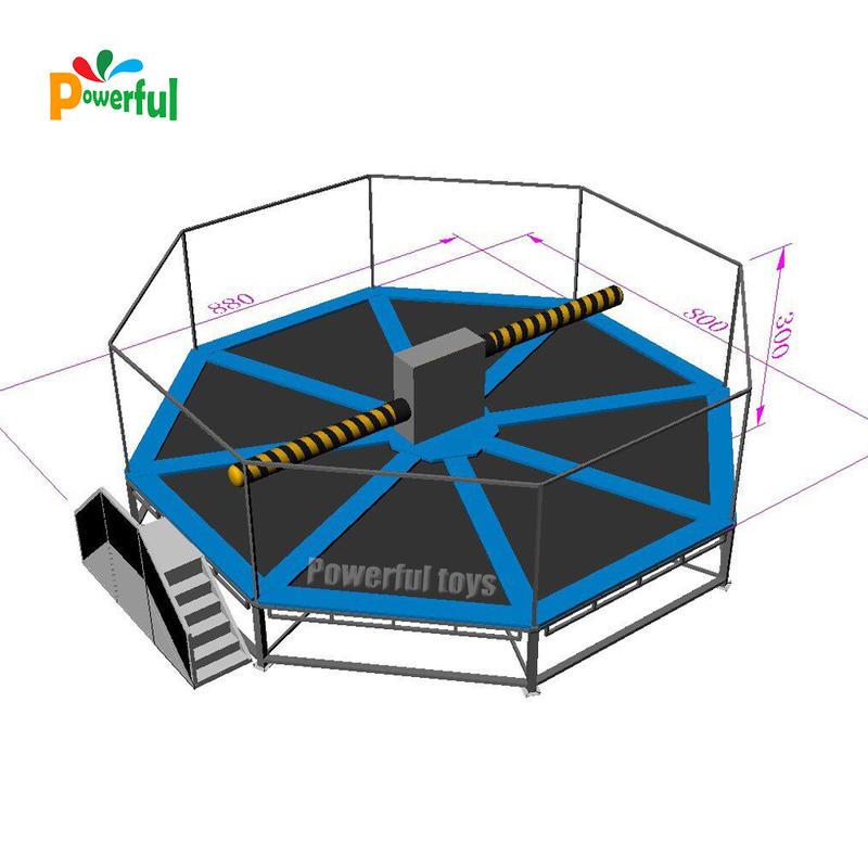 Crazy wipeout trampoline amuzement park equipment for sales