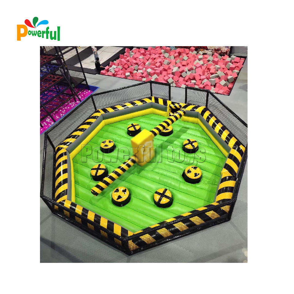 Inflatable Meltdown Adult Sport Games Inflatable Wipeout Trampoline For Trampolien park