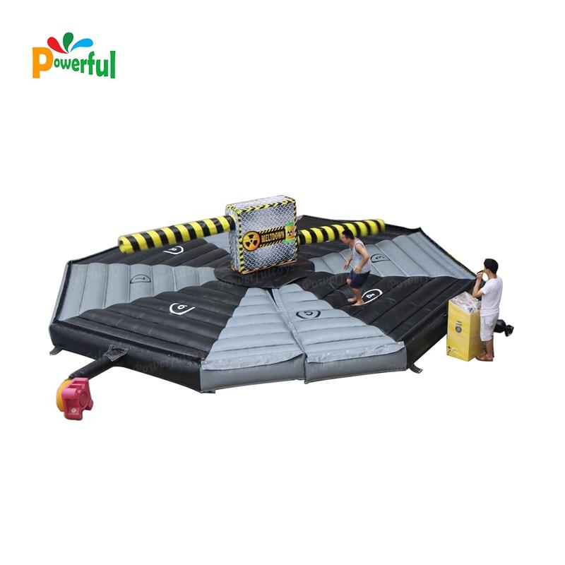 Inflatable twister wipe out machine game