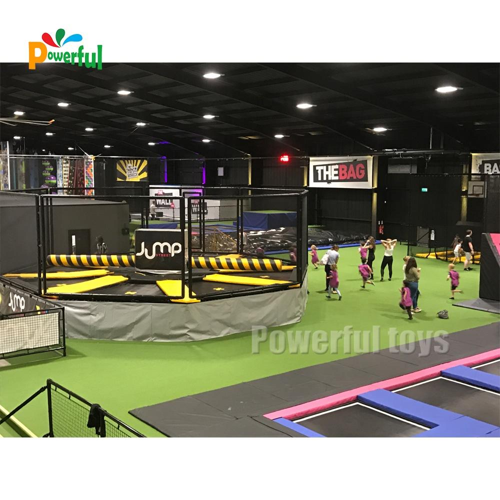 8m diameter inflatable trampoline park wipeout machine