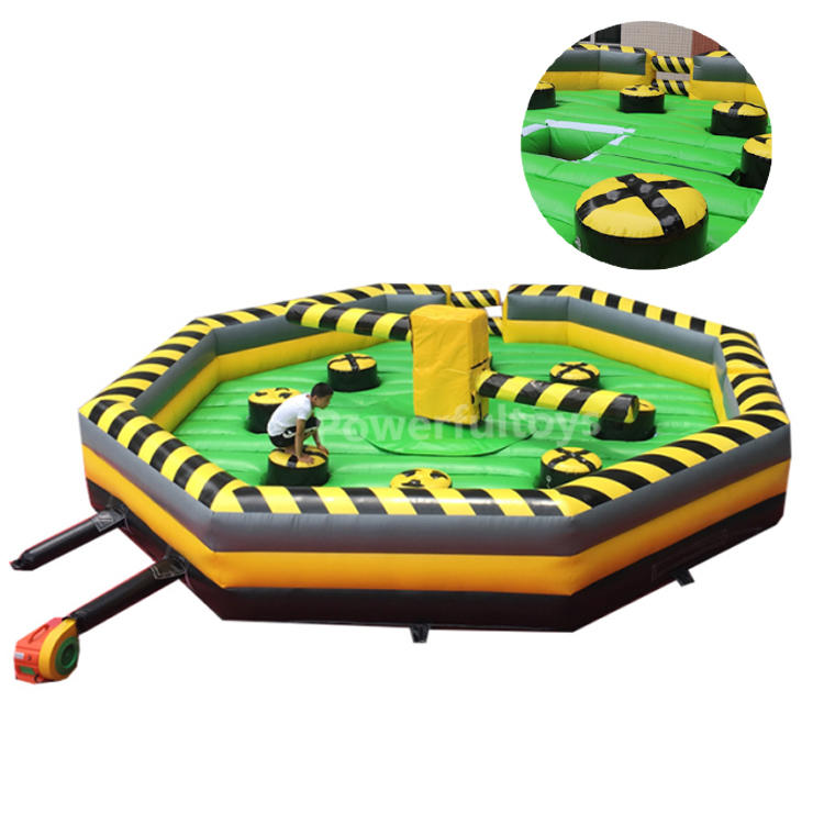 Classical design inflatable last man standing wipeout sweeper game