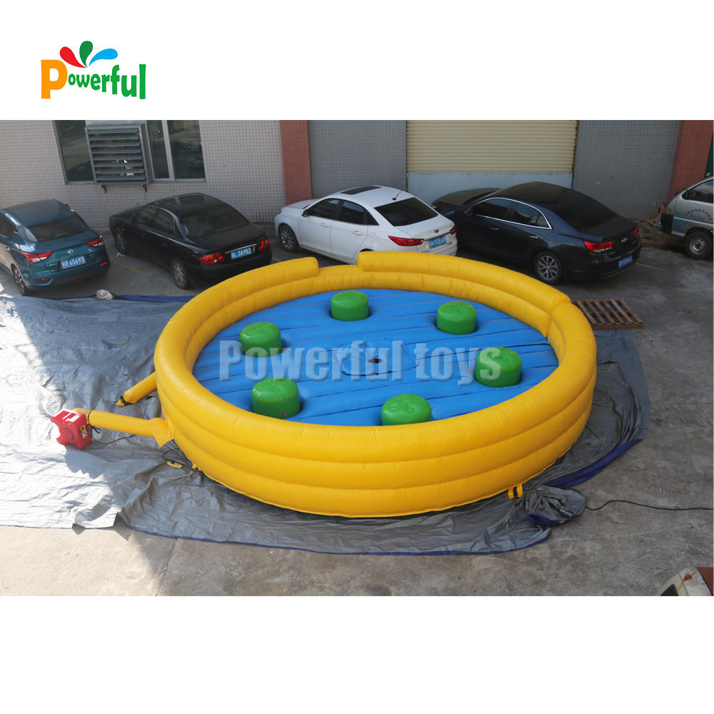 ready to ship inflatable wipeout course for trampoline park