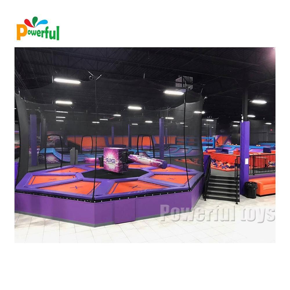8m diameter inflatable trampoline park wipeout machine