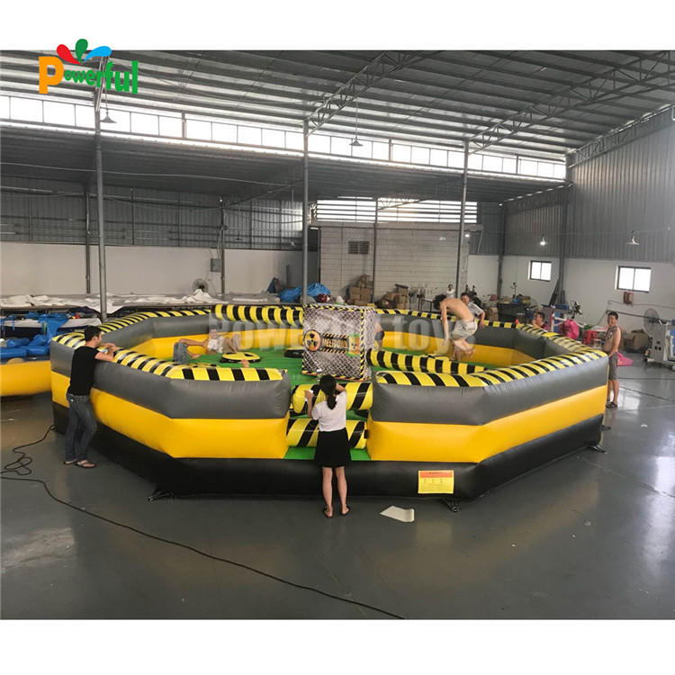 New style crazy inflatable meltdow wipeout bouncer games