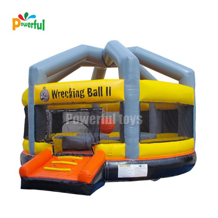 outdoor amusement trampoline park inflatable wrecking balldodgeball sport games for rent