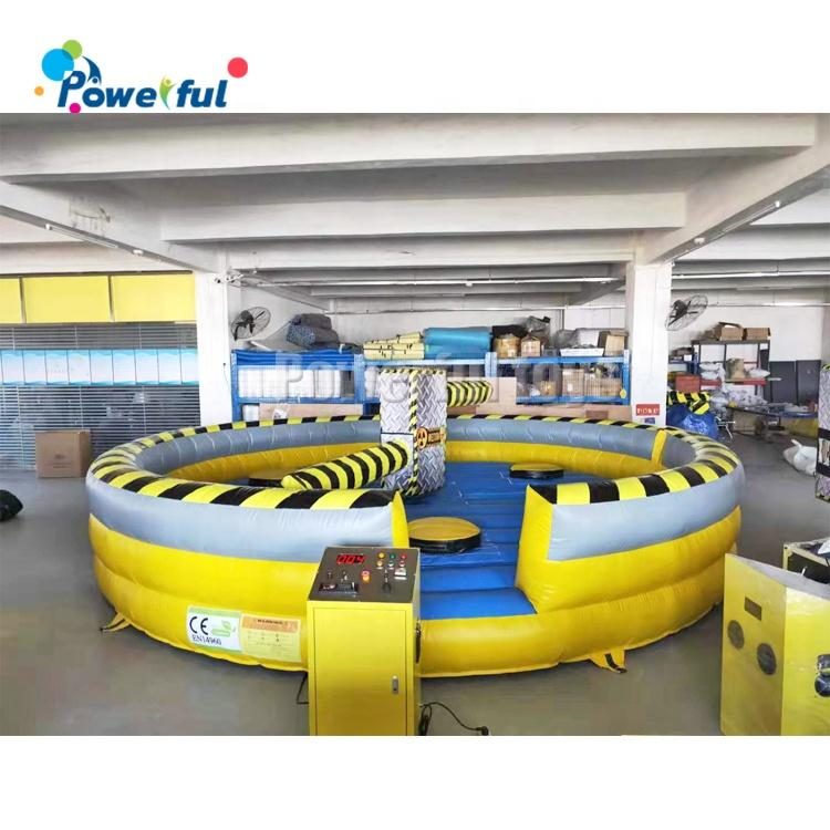6m diameter trampoline park Inflatable meltdown wipeout eliminator games