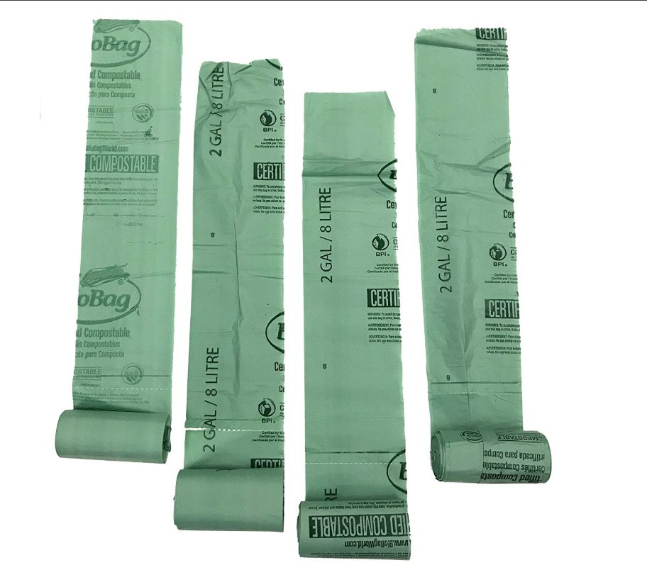 100 sustainable eco friendly products bin liners compostable cornstarch EN13432 with own logo biodegradable bag