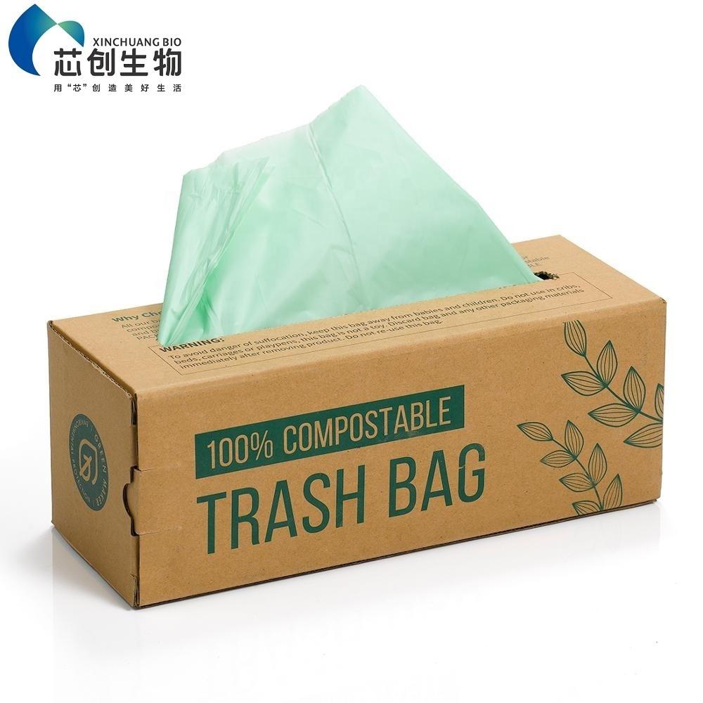 Biodegradable Rubbish Bag Compostable Disposable PLA Wholesale Environmentally Friendly Trash Bag