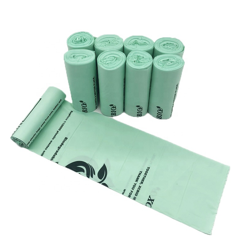 Eco friendly custom logo 100% biodegradable compostable trash bags garbage bags