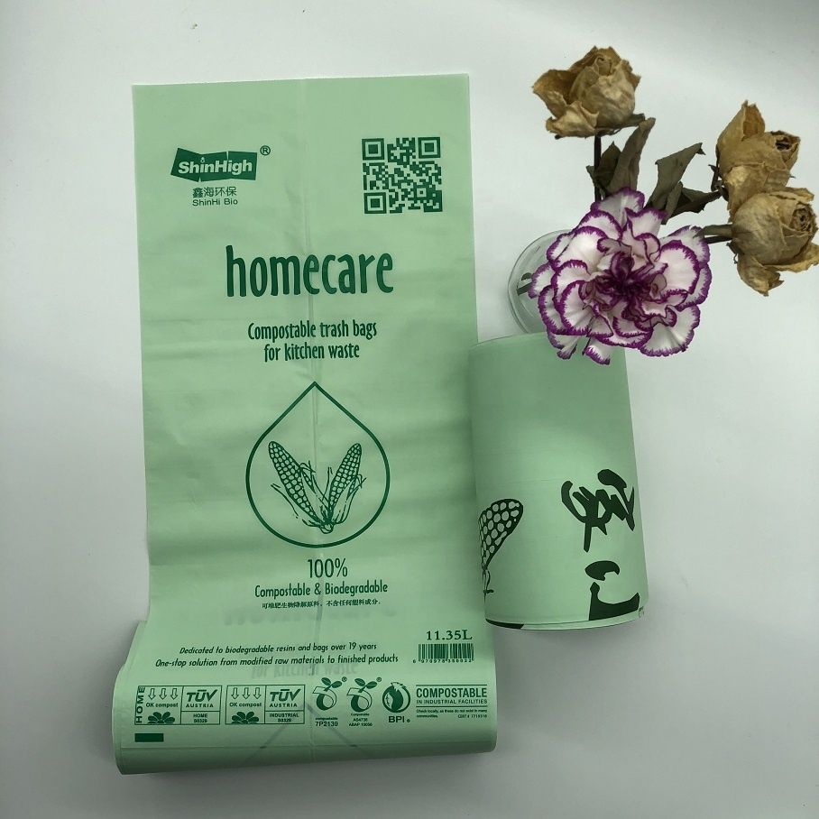 Custom Eco Friendly biodegradable plastic Trash Garbage bags with logos