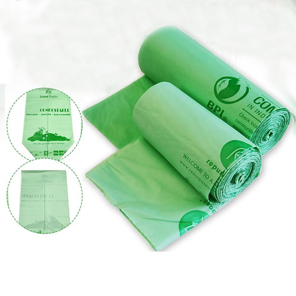 Chinese factory sustainable packaging plastic biodegradable garbage bag