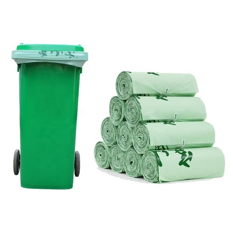 Eco friendly Disposable compostable Trash Bags Heavy Duty 100% Biodegradable Compostable Bin Liners with EN13432 Certificate