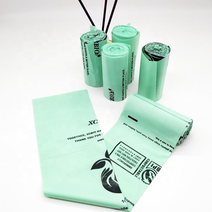 environmentally friendly compostable biodegradable plastic trash bag
