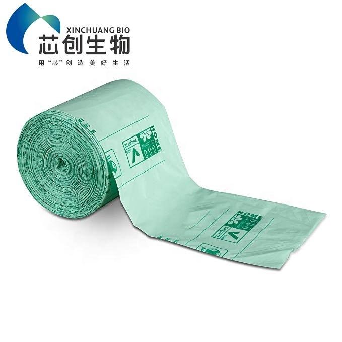 100% Eco-friendly T-shirt Bag Corn Starch Garbage Bags Compostable T shirt Bag