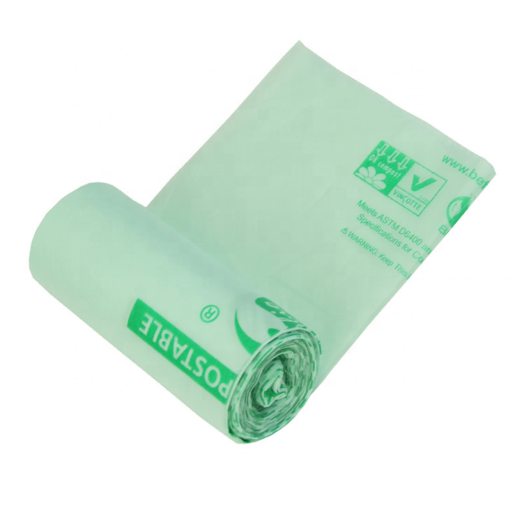 Sutainable Ecofriendly Compostable PLA Bin Liner Trash Bags Biodegradable Garbage Bags
