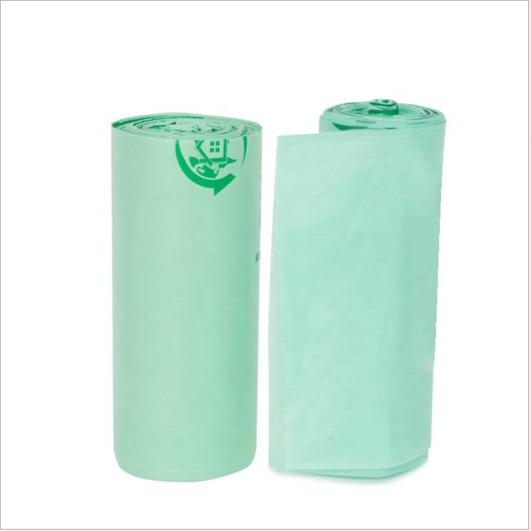 Sustainable CompostablePlastic Garbage Bags Bolsas Biodegradable PLA Trash BagCornstarch Bin Liner