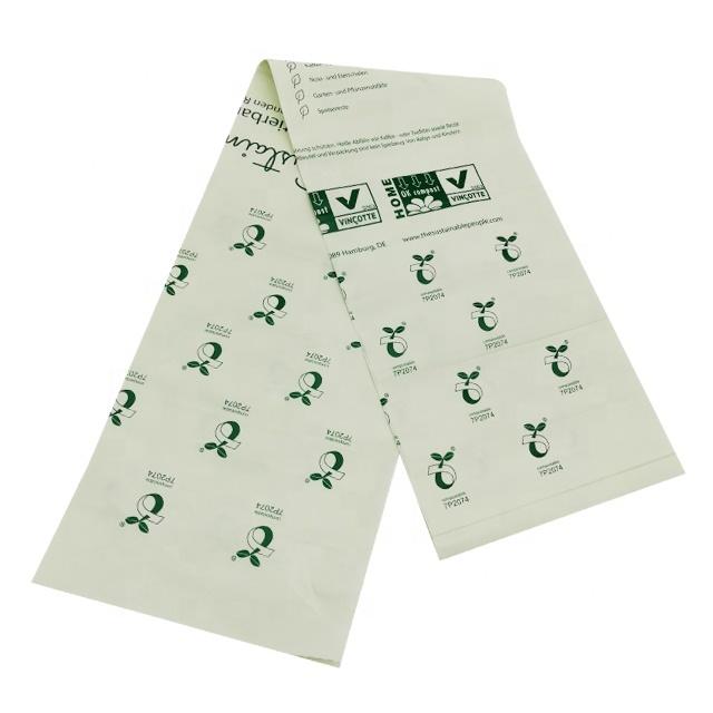Environmental Protection100% biodegradable cornstarch compostable bin liner bags for trash