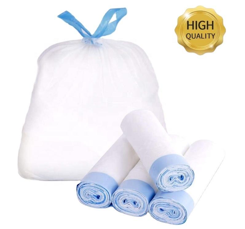Bolsas Compostable Disposable PLA Wholesale Environmentally Friendly Basura Biodegradable Drawstring Garbage Bags for Kitchen