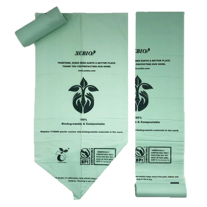 EN 13432 100% Biodegradable Eco Friendly Compostable Garbage Bags