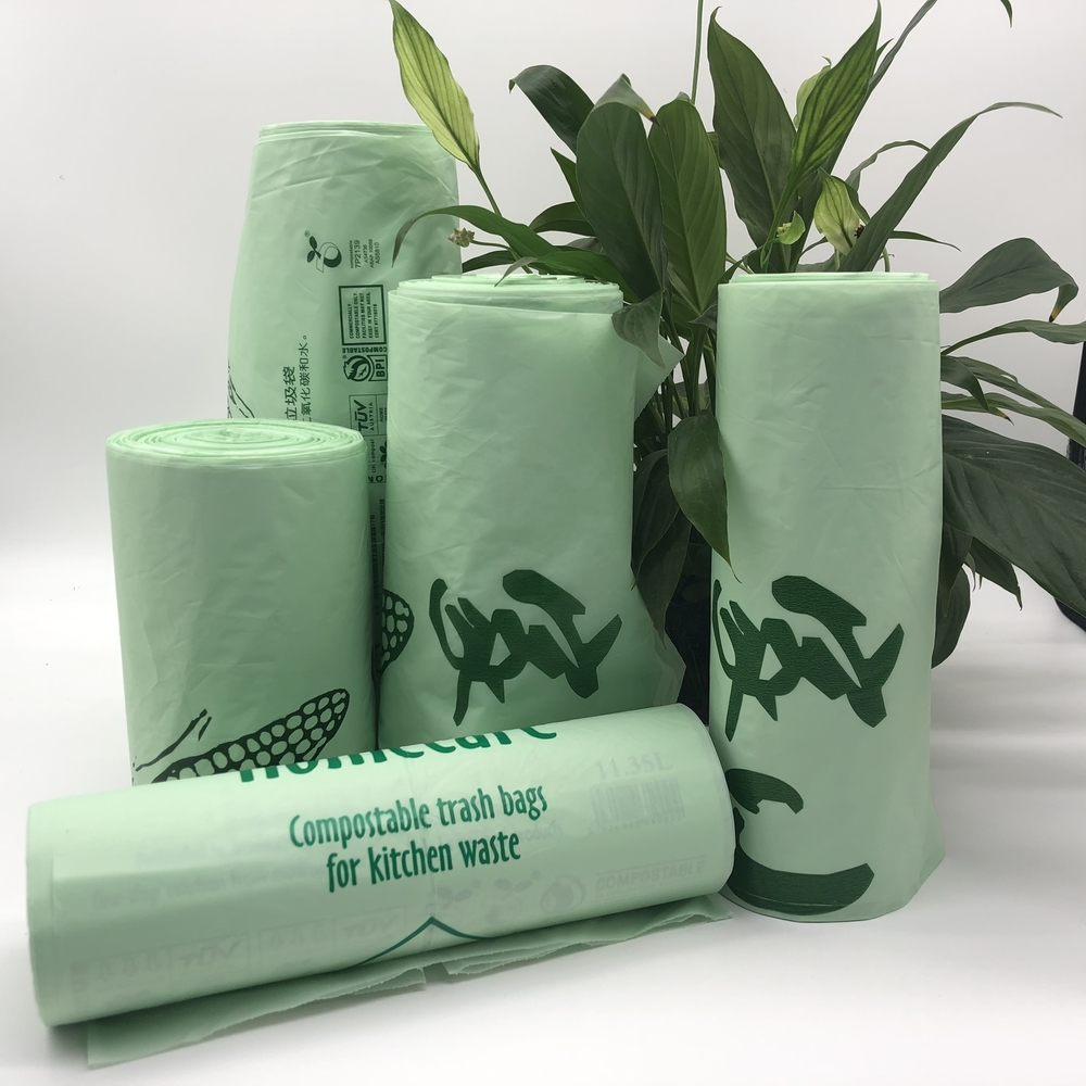 Eco Friendly 100% Biodegradable and Compostable Trash Bags