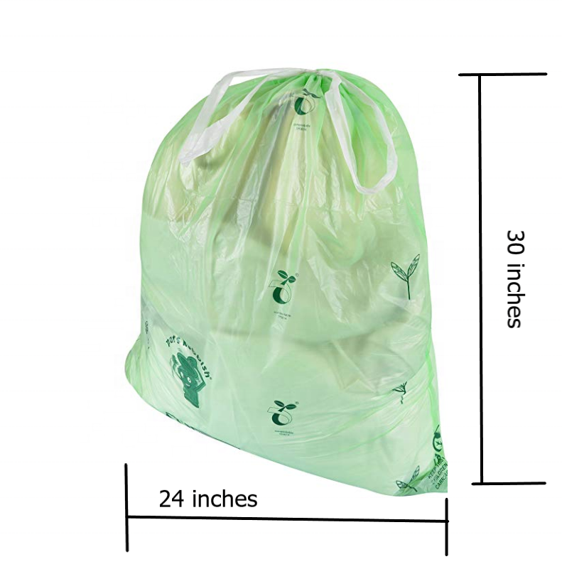 13 Gallon 100% biodegradable Drawstring Trash Bags Trash Can Liners for Kitchen Office