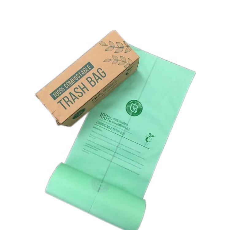 Wholesale plant base biodegradable bags biodegradable garbage bags compostable garbag bag for trash rubbish