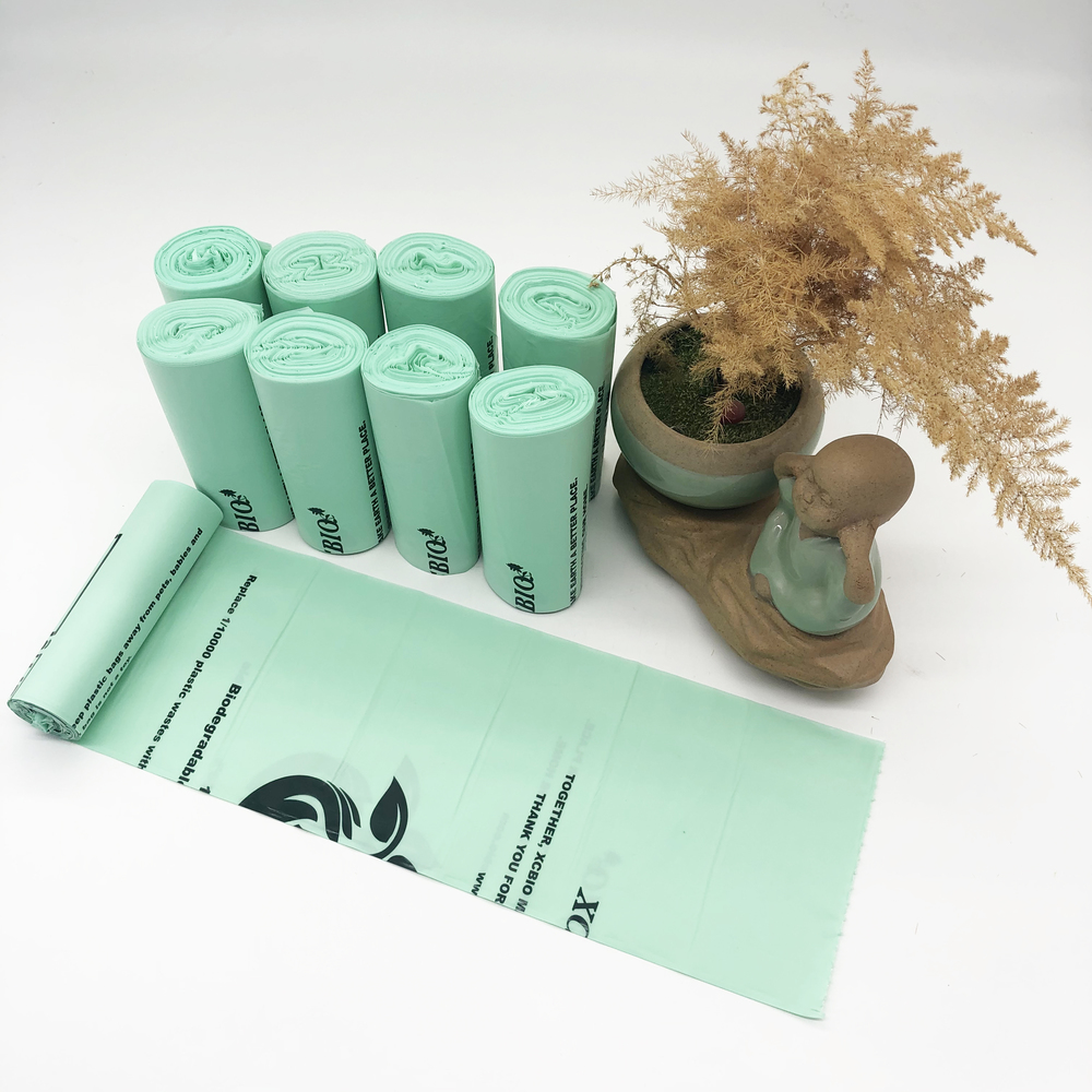 Compostable biodegradable Environmental Protectioncornstarch plastic star seal garbage bags on roll
