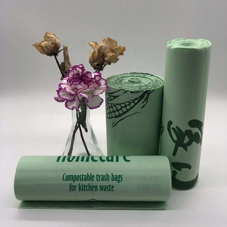 100% Biodegradable Environment-Friendly Foldable Households Plastic Garbage Bags