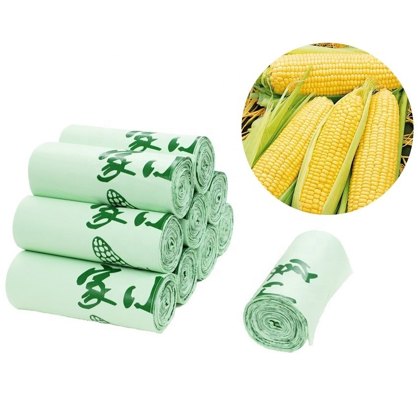 100% Biodegradable and Compostable Corn Starch Trash Bags