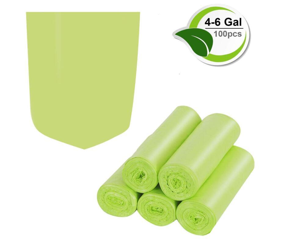 Gallon Trash Recycling & Degradable Small Garbage Compostable Strong Rubbish Wastebasket Bags for Kitchen PLA Bathroom Bag