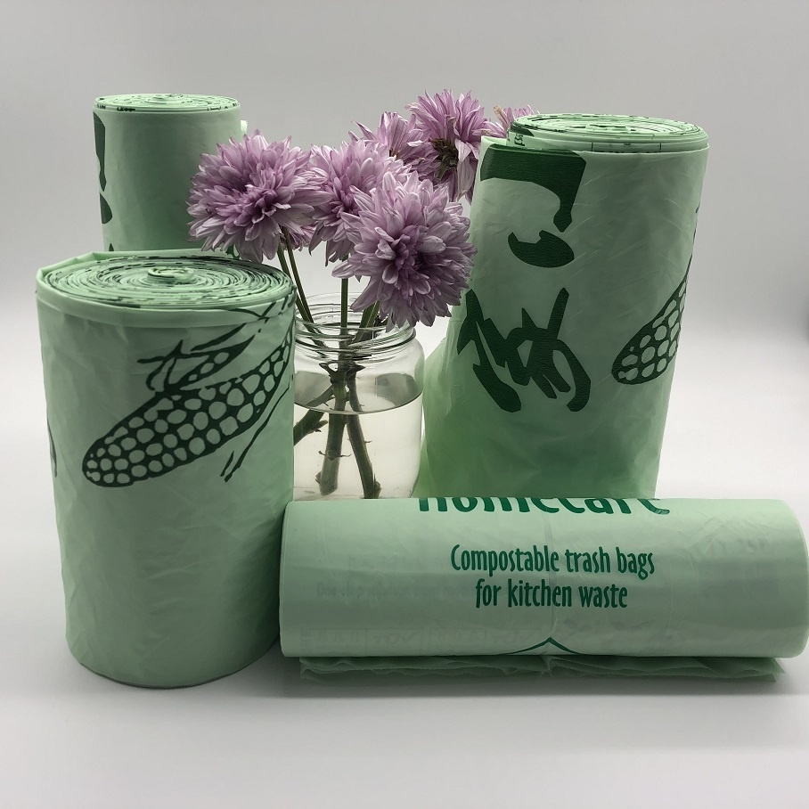 Custom cornstarch 100% Biodegradable and Compostable Garbage Bags