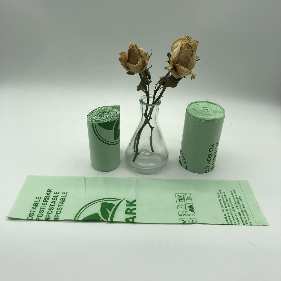 Environment-Friendly Biodegradable compostable corn starch trash bag with customized printing