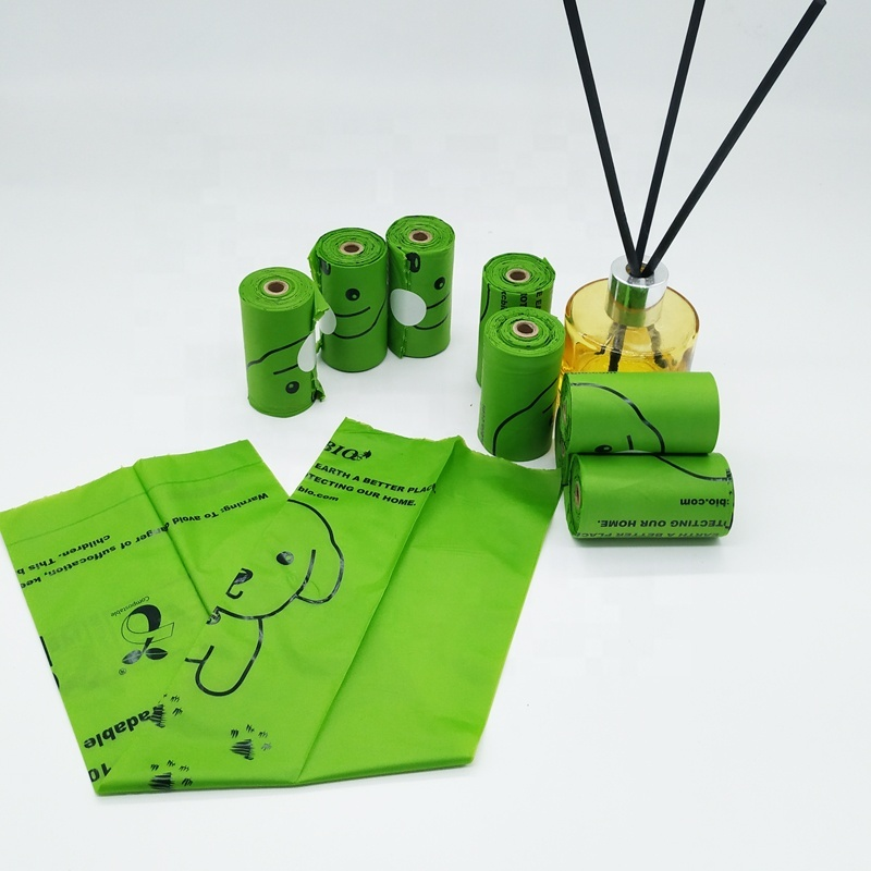Eco-friendly 100% biodegradable compostable nature corn starch pet dog waste bags