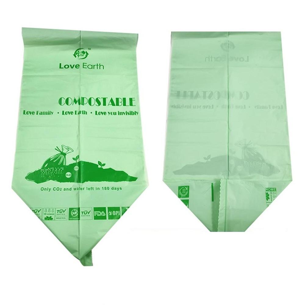 Customized logo bio degradable plastic garbage bags