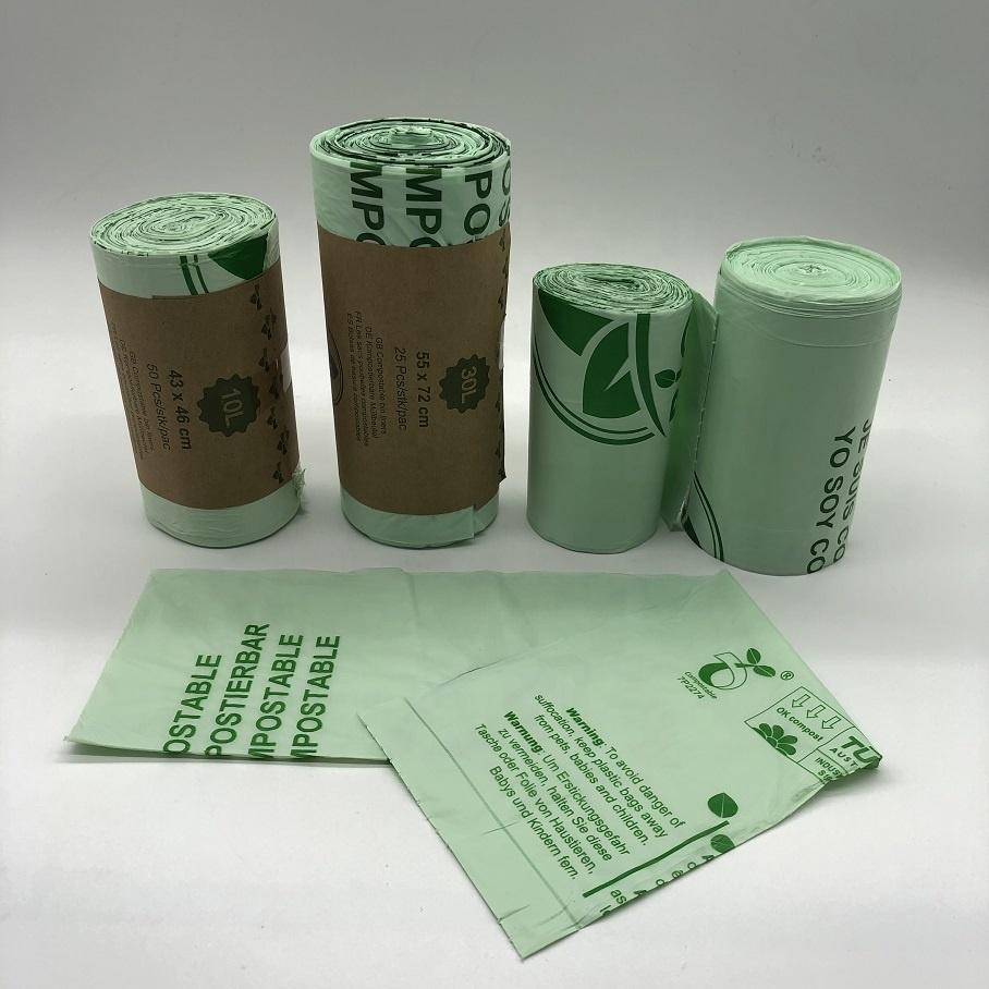 Eco friendly Cornstarch PLA Compostable Biodegradable Garbage Trash Bags