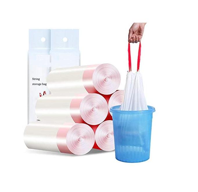 Compostable Disposable PLA Wholesale Environmentally Friendly Trash Rubbish Bag Biodegradable Drawstring Trash Bags
