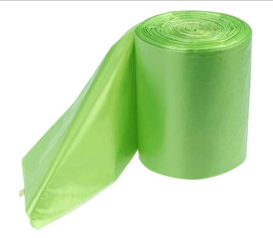 1.2 Gallon Small Trash Bags, Green, 125 Counts PLA Garbage Bag