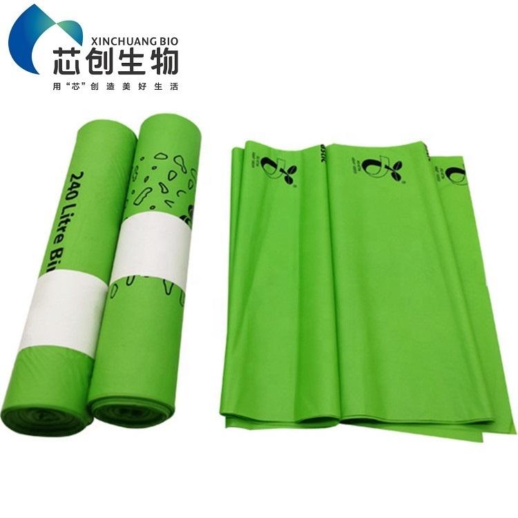 100% Eco Friendly Compostable Plastic Garbage Bags Biodegradable PLA Trash Bag Rubbish Bag