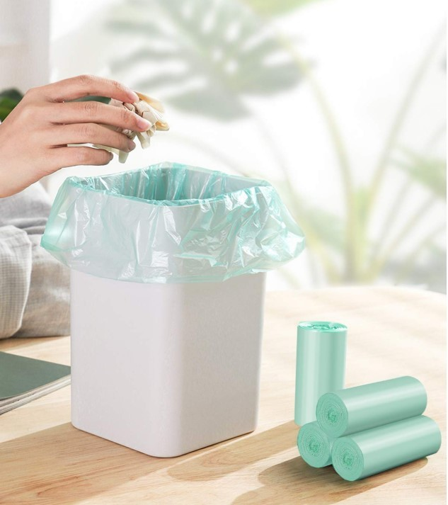 1.2 Gallon Small Trash Bags Garbage Bags, Mini Compostable Strong Bathroom Wastebasket Can Liners trash Bags for Home Office Kit