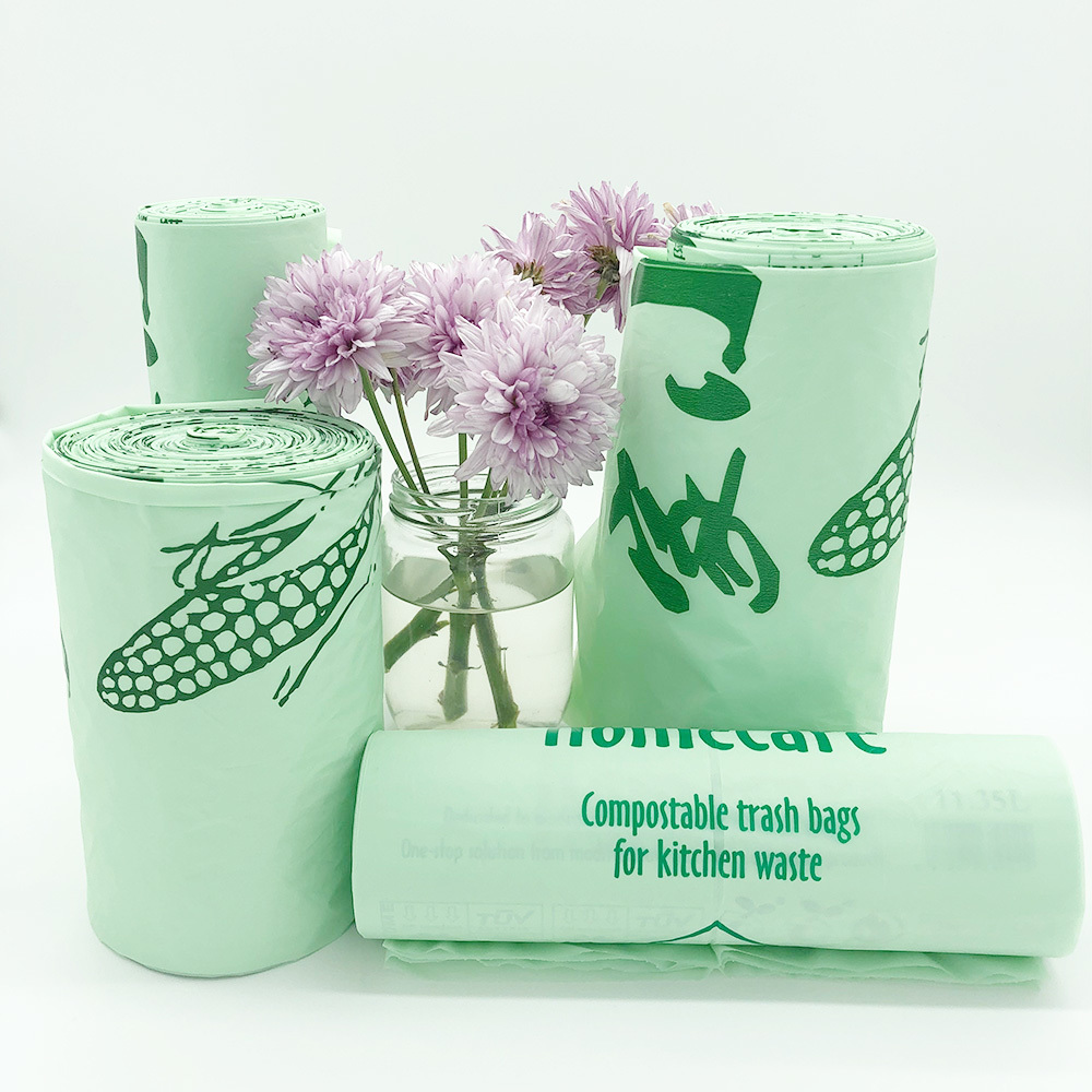 Eco Friendly 100% Biodegradable Cornstarch Trash Bags Compostable Garbage Bags