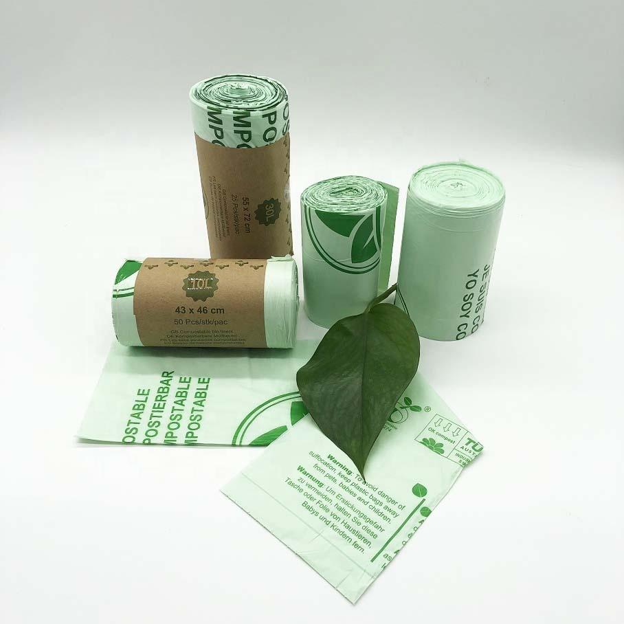 100% biodegradable garbage bagsdisposable not easy to leak environmental friendly trash bags