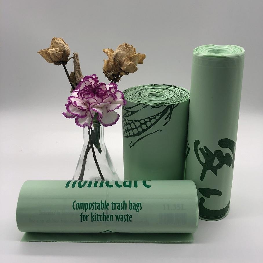 100% Compostable Full Biodegradable Food Waste Kitchen Trash Eco Bin Liner Bags