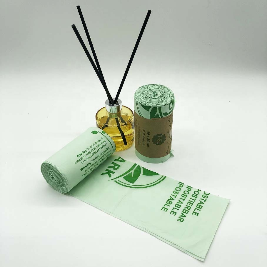Customized Heavy duty 100% biodegradable and Compostable Plastic Garbage trash plastic Bags
