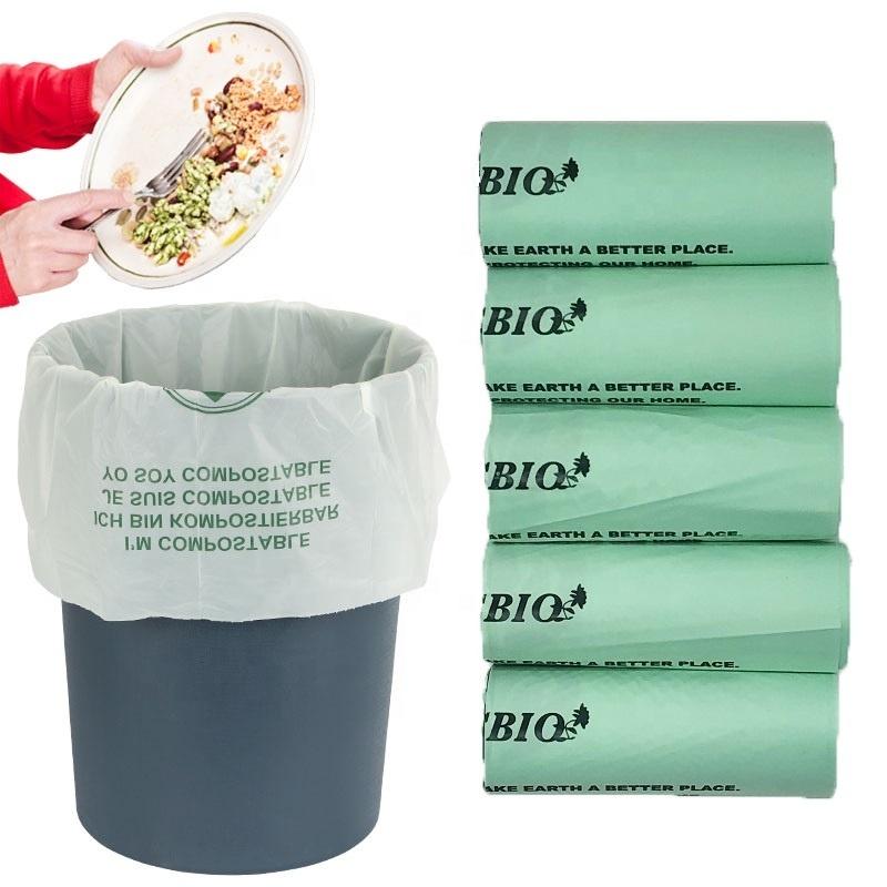 Eco- friendly cornstarch 100% biodegradable compostable trash bags