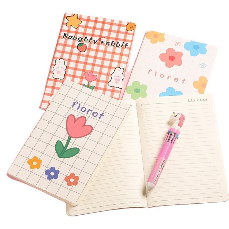 Customized A5 Premium Notebook Gifts Saddle Stitch Notebook Wholesale Kraft Cardboard Notebook