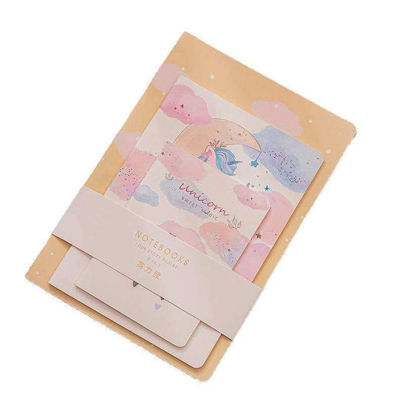 Customized A5 School Notebooks Girl Promotion Notebook Gift Sets Hardback Kraft Cover Notebooks