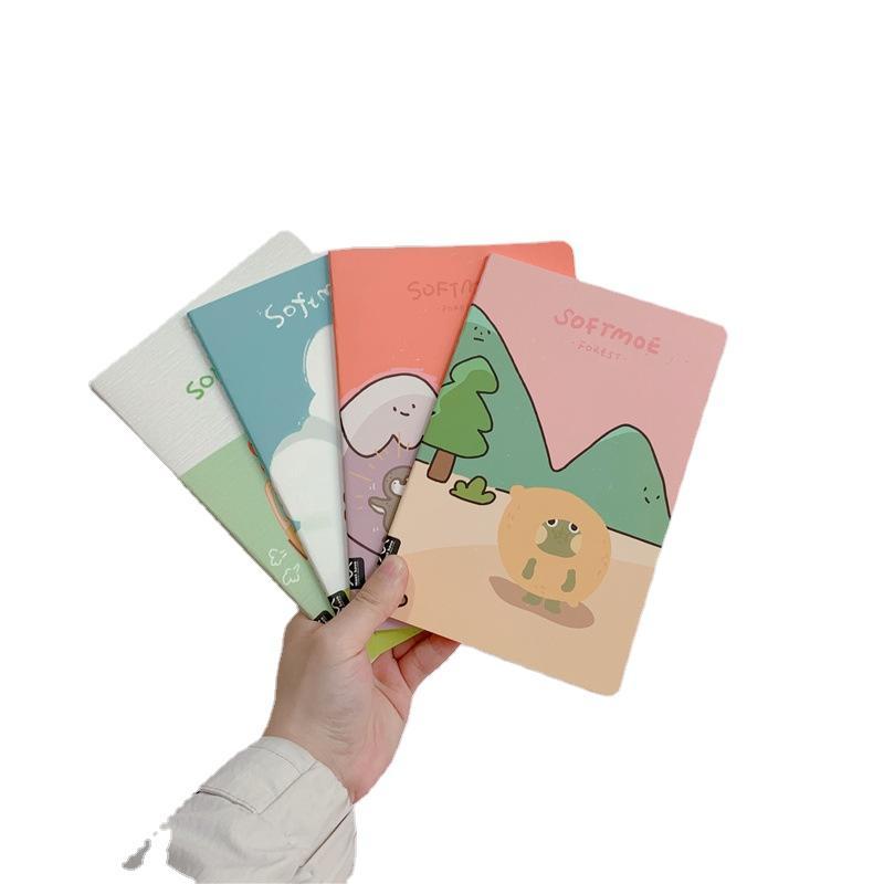 A5 Custom Saddle Stitch Book Binding Children Hand Writing Book Cartoon Kawaii Notebook